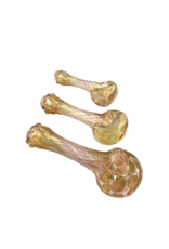 """4"""" Landon Gold and Silver Fumed Carnival Hand Pipe"""