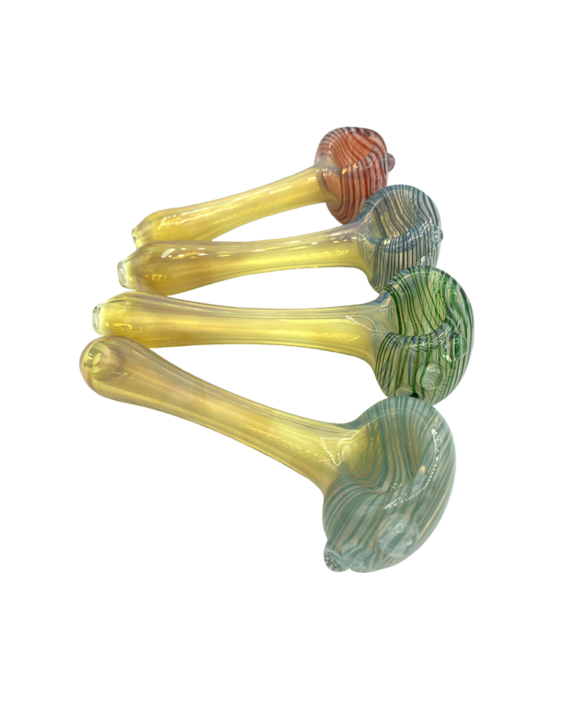 """4.5"""" Overcash Silver Fumed Wrap Head Hand Pipe"""