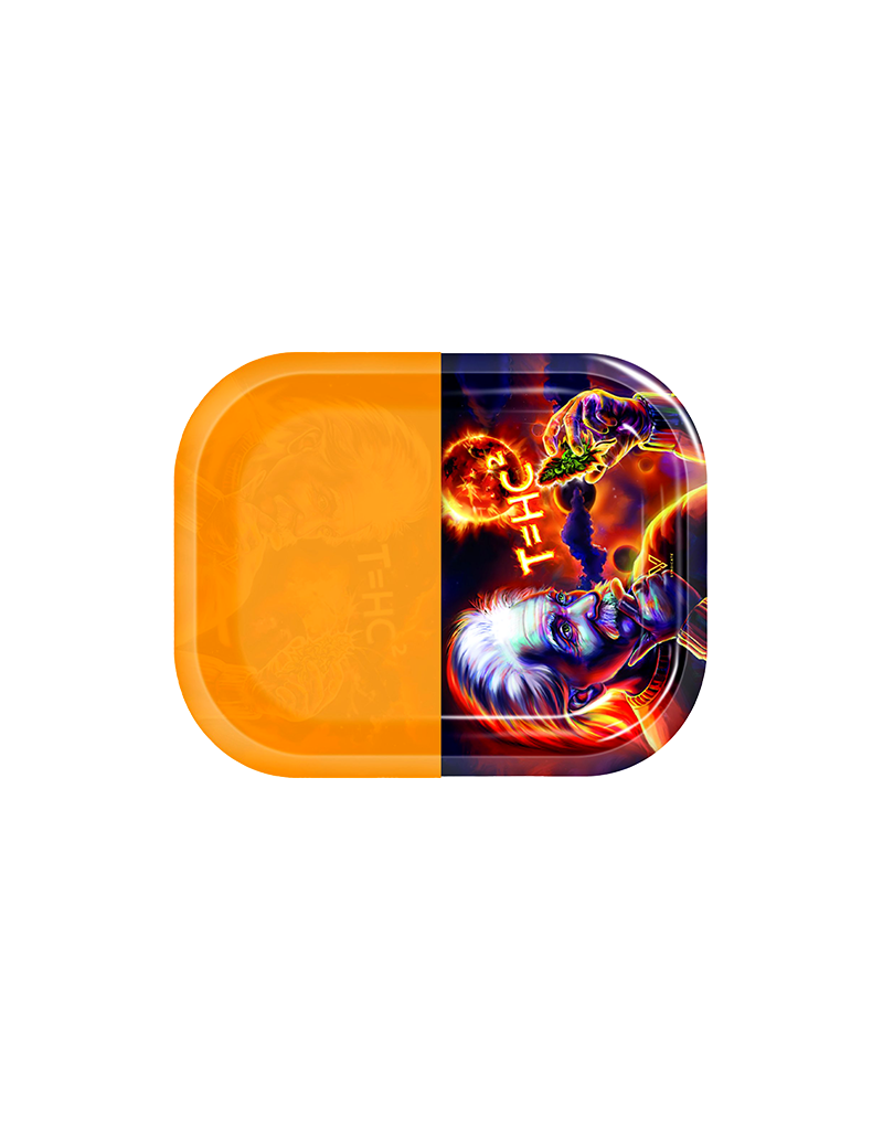 V Syndicate T=HC2 Fire Cosmos Metal Rolling Tray With Removable  Silicone Pad