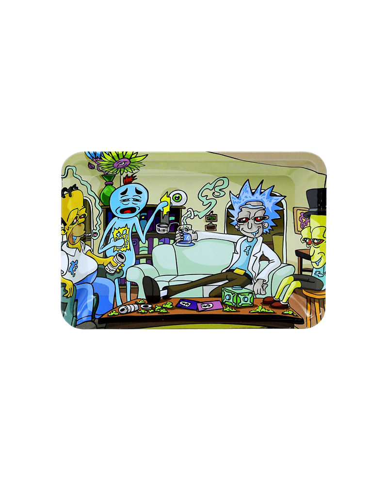 Rick and Morty Dabs With Homer Metal Rolling Tray