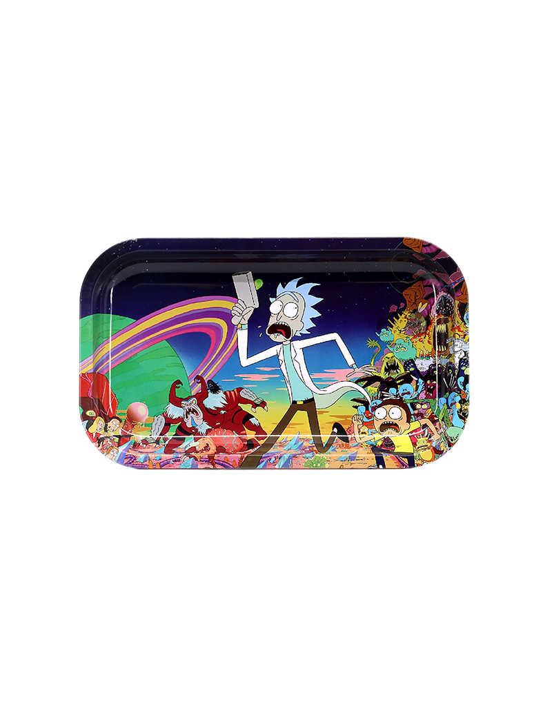 """Rick and Morty """"Fuckin Run Morty!!!"""" Metal Rolling Tray"""