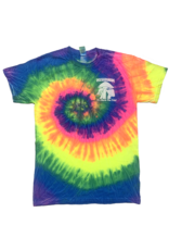 Mushroom Classic Logo Tie Dye T-Shirt Neon Rainbow