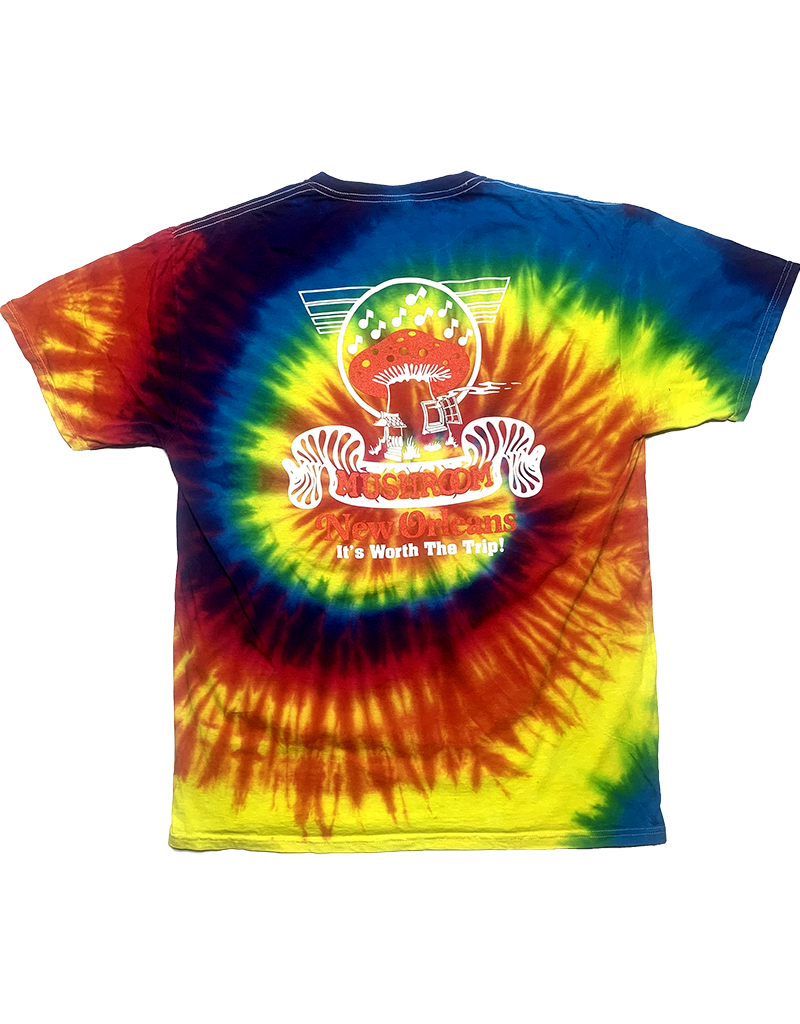 Mushroom Classic Logo Tie Dye T-Shirt Rainbow