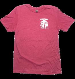 Mushroom Classic Logo Soft Style  T-Shirt Heather Heliconia