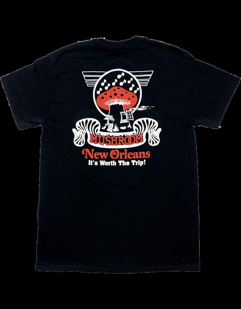 Mushroom Classic Logo Soft Style T-Shirt Black