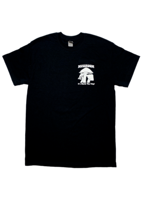 Mushroom Classic Logo Ultra Cotton T-Shirt Black