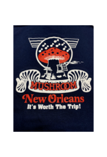 Mushroom Classic Logo Ultra Cotton T-Shirt Navy Blue