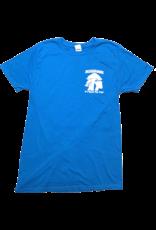 Mushroom Classic Logo Soft Style T-Shirt Sapphire Blue