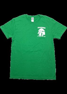 Mushroom Classic Logo Soft Style T-Shirt Irish Green