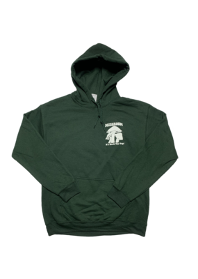 Mushroom Classic Logo Pullover Hoodie Forest Green