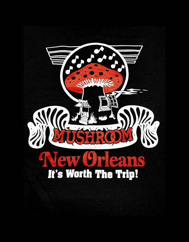 Mushroom Classic Logo Pullover Hoodie Black