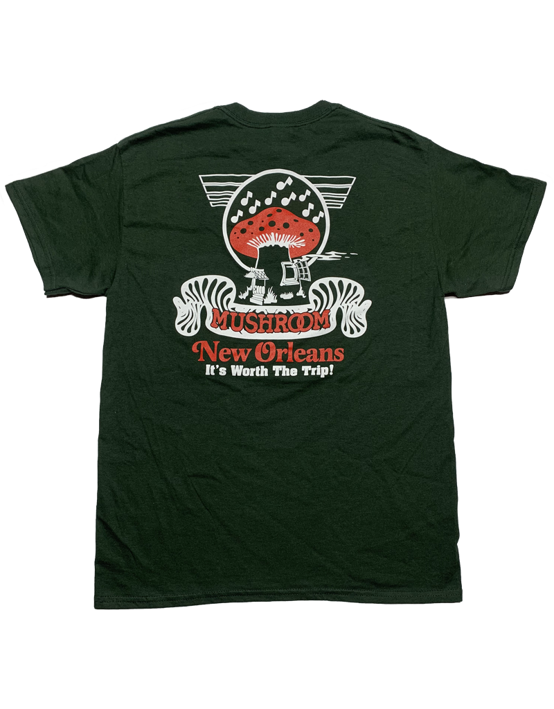 Mushroom Classic Logo Ultra Cotton T-Shirt Forest Green