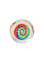 "4"" Diameter Tie Dye Glass Ashtray"
