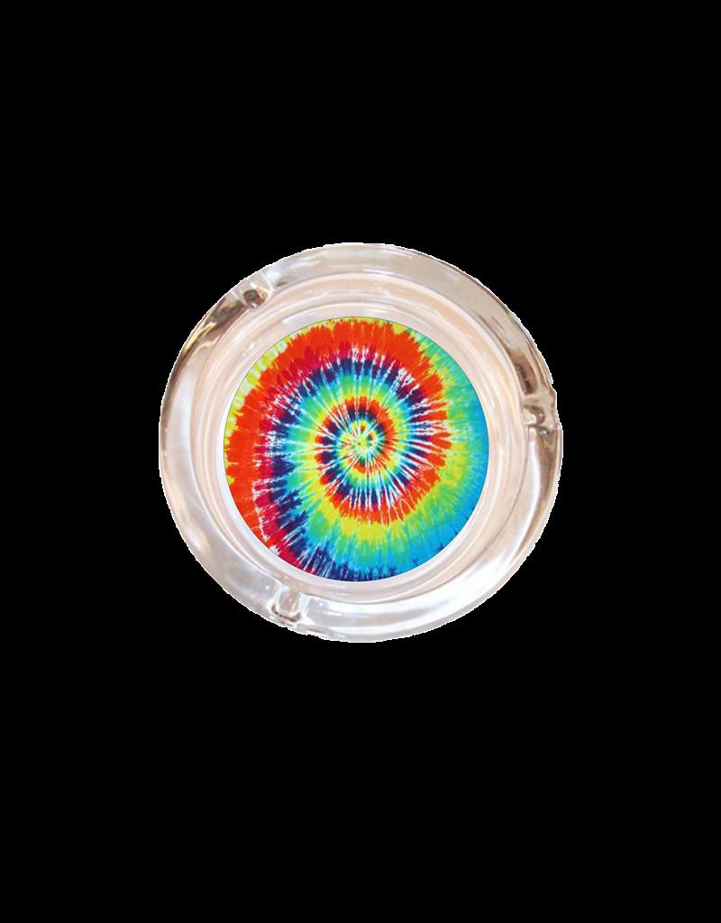 "4"" Diameter Tie Dye Glass Ashtray"