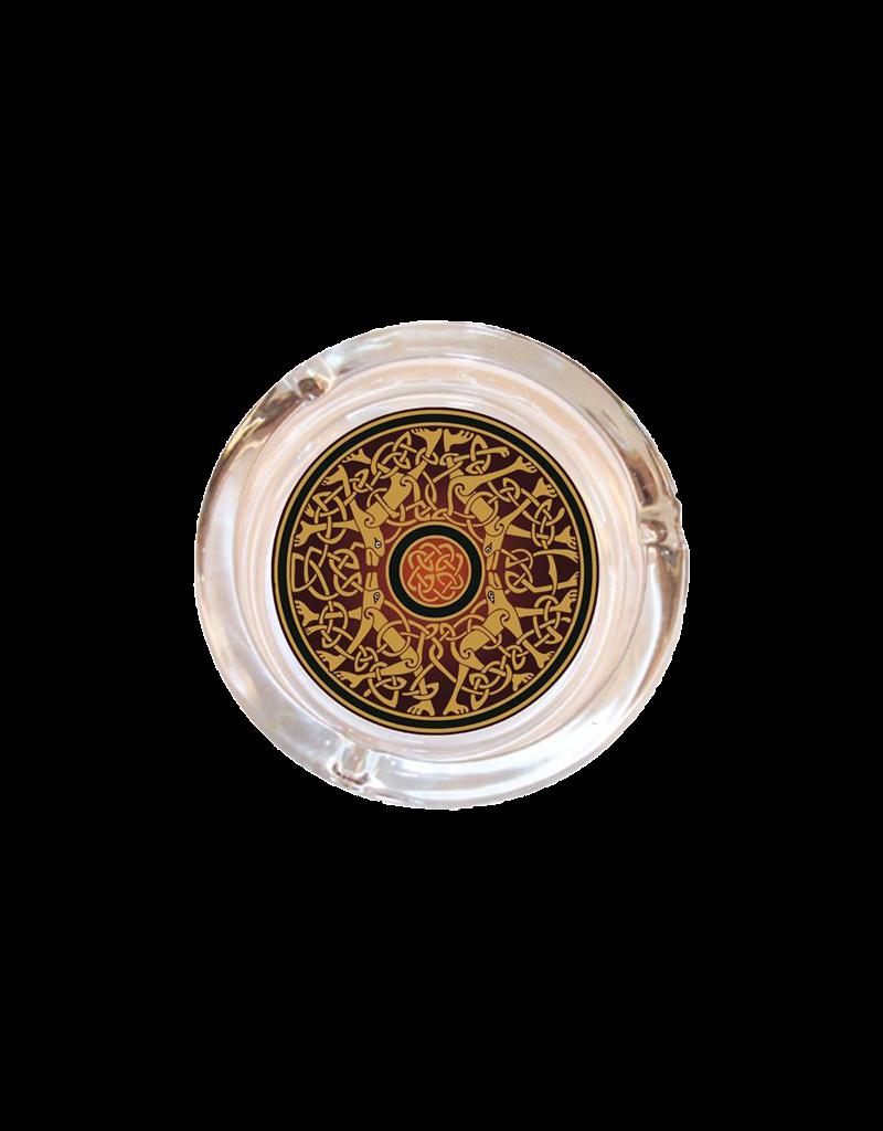 """4"""" Diameter Celtic Glass Ashtray"""