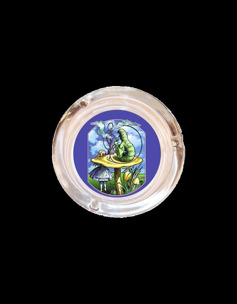 "4"" Diameter Alice In Wonderland Glass Ashtray"
