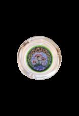 "4"" Diameter Mushroom 2000 Glass Ashtray"