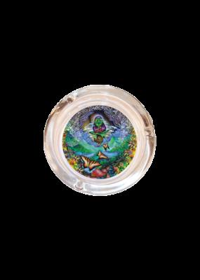 """4"""" Diameter Musical Frog Glass Ashtray"""