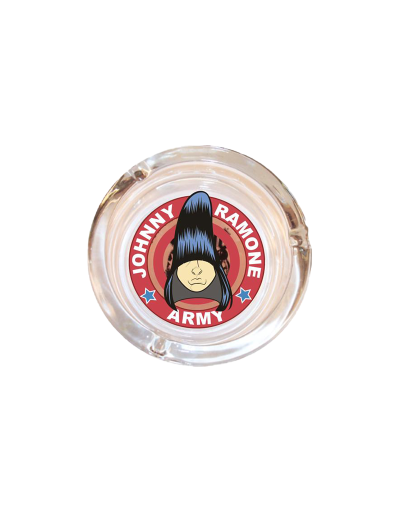 "4"" Diameter Johnny Ramone Glass Ashtray"