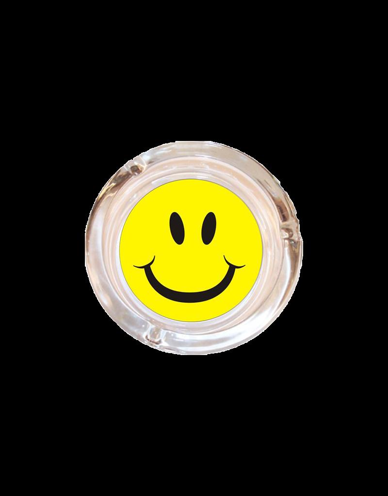 "4"" Diameter Smiley Face Glass Ashtray"