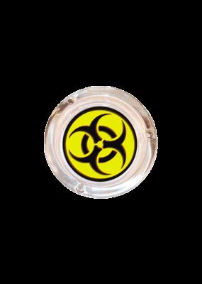 "4"" Diameter Biohazard Glass Ashtray"