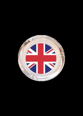 "4"" Diameter Union Jack British Flag  Glass Ashtray"
