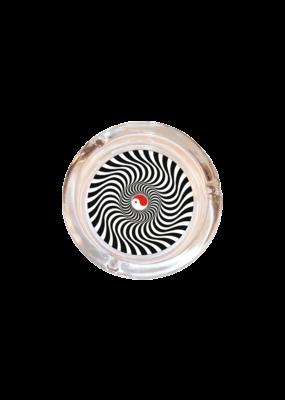 """4"""" Diameter Optical Yin Yang Glass Ashtray"""