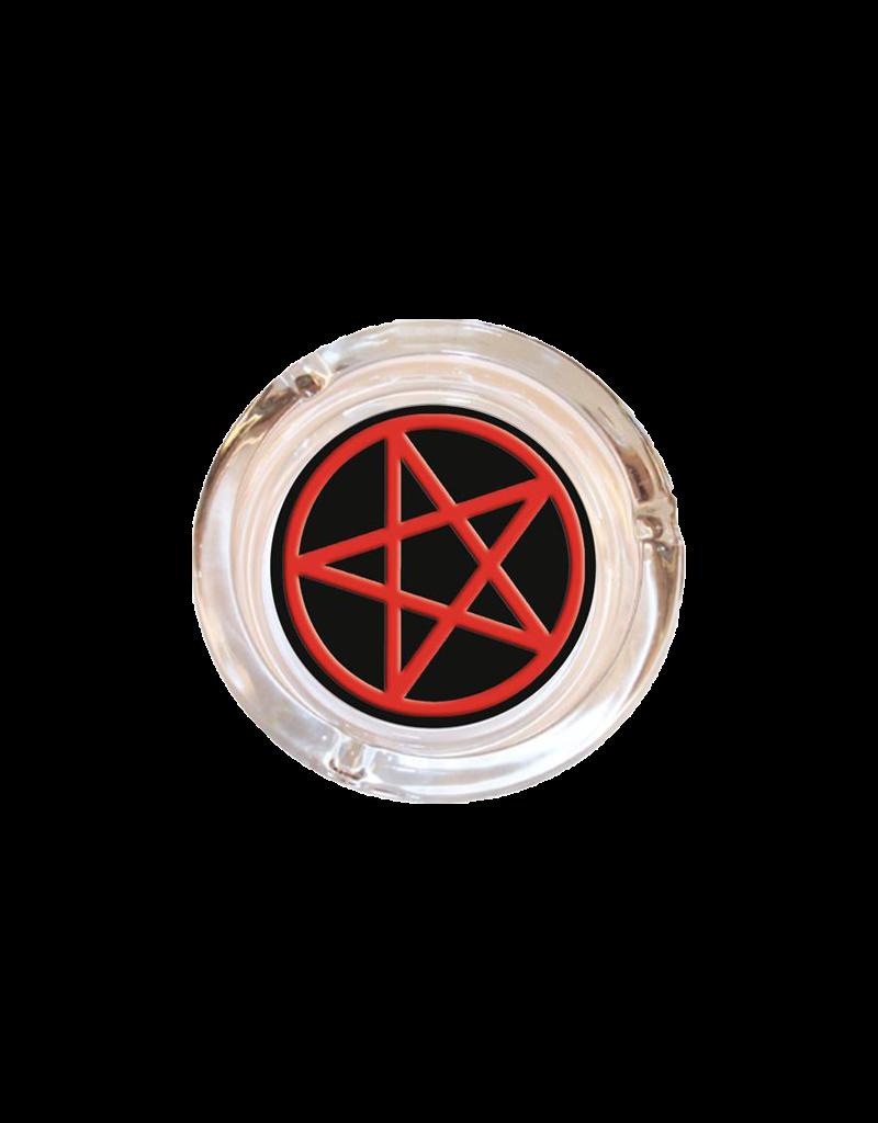 """4"""" Diameter Pentagram Glass Ashtray"""