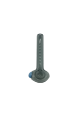 """3.25"""" Import Slayer Grey Hand Pipe With Color Accent"""