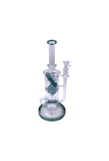 """11"""" Swiss Chamber Recycler Water Pipe With Mini Inline Diffuser Perc"""