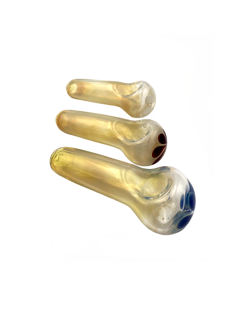 """4"""" Franticus Silver Fumed Flower Power Hand Pipe"""