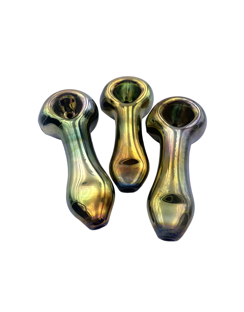 """3.5"""" Franticus Gold Digger Mirrored Hand Pipe"""