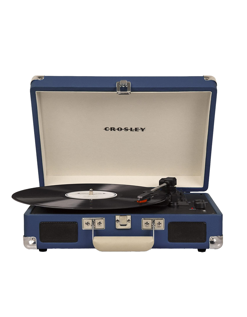 Crosley Cruiser Deluxe Turntable With Bluetooth - Blue