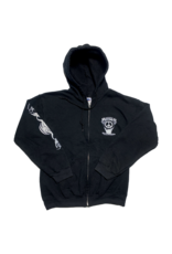Mushroom Hand Of Peace Zip-Up Hoodie Black