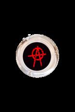 "4"" Diameter Anarchy Glass Ashtray"