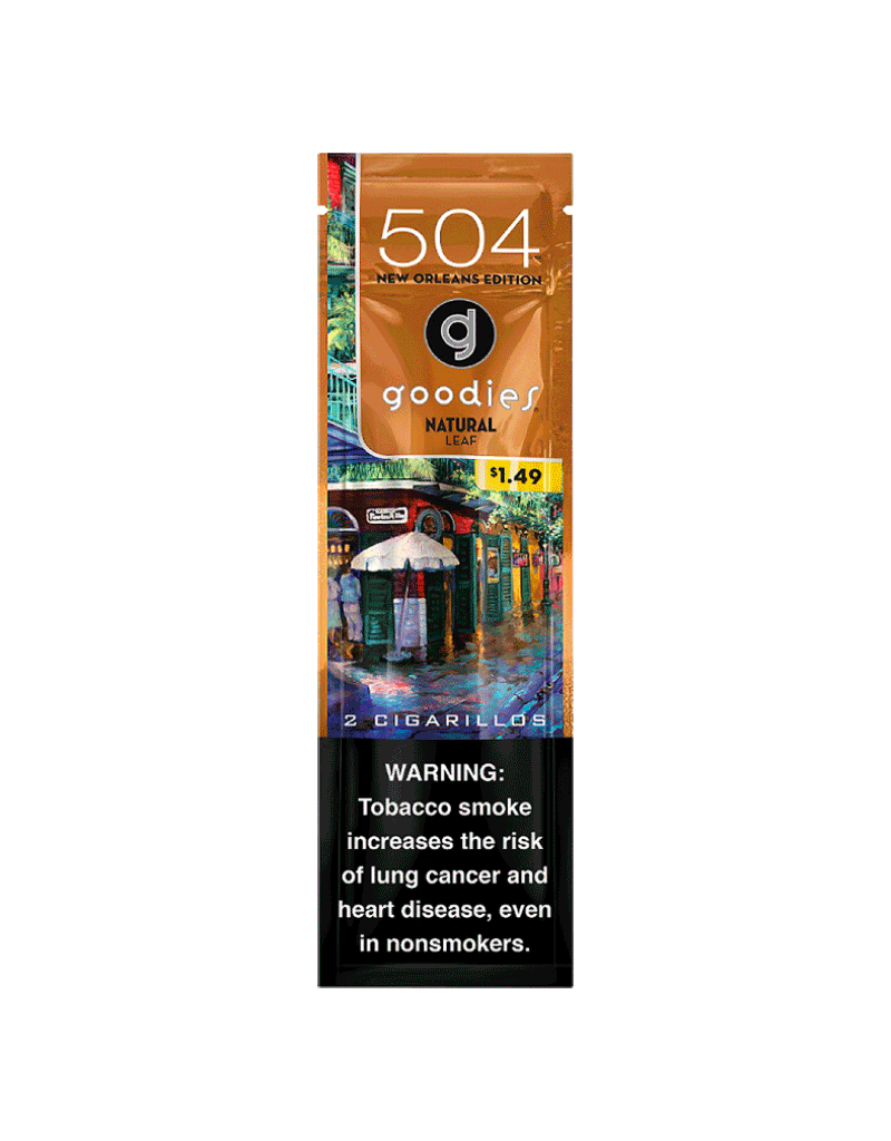 504 Goodies Cigarillos 2 Pack Natural