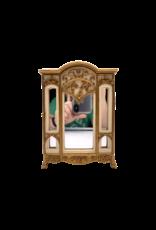 "Art Nouveau - Fancy Cabinet Style Jewelry Box 8""H"