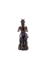 """9.5"""" Heavy Bronze Pan Statue"""