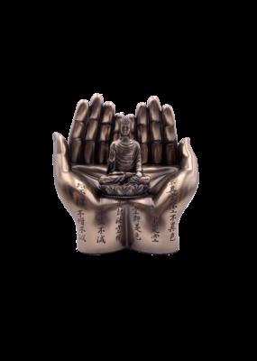 """6"""" Sakyamuni Meditating  In Hands Statue"""