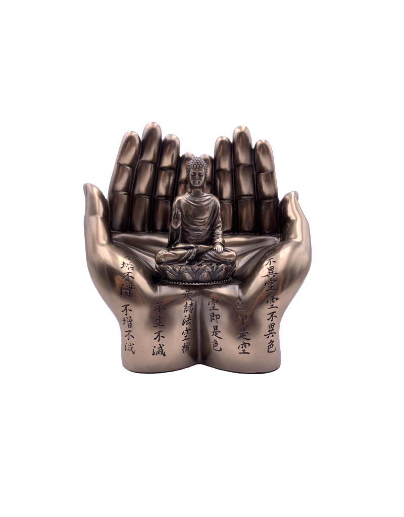 "6"" Sakyamuni Meditating  In Hands Statue"