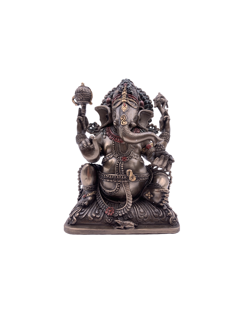 """Ganesh - Lord of Prosperity and Fortune Statue 5.5""""H"""