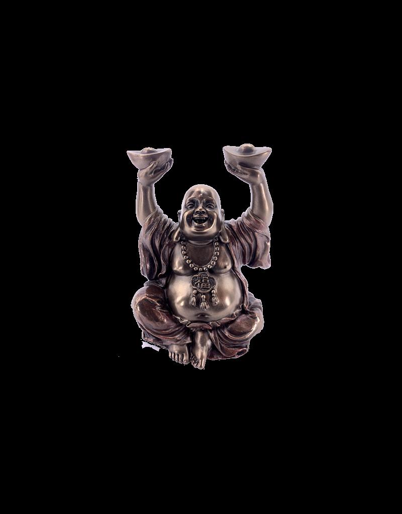 "Happy Buddha - Essence of Prosperity Statue 4.25""H"