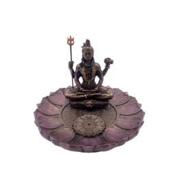 Shiva Round Lotus Incense Holder