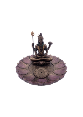 Shiva Round Lotus Incense Holder