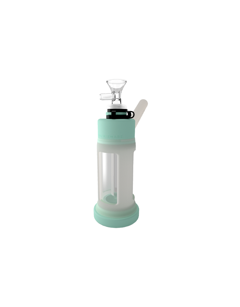 """Stonerware  6"""" Piece Silicone and Glass Water Pipe Tiffany / Ice"""