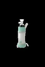 "Stonerware 6"" Piece Silicone and Glass Water Pipe Tiffany / White"