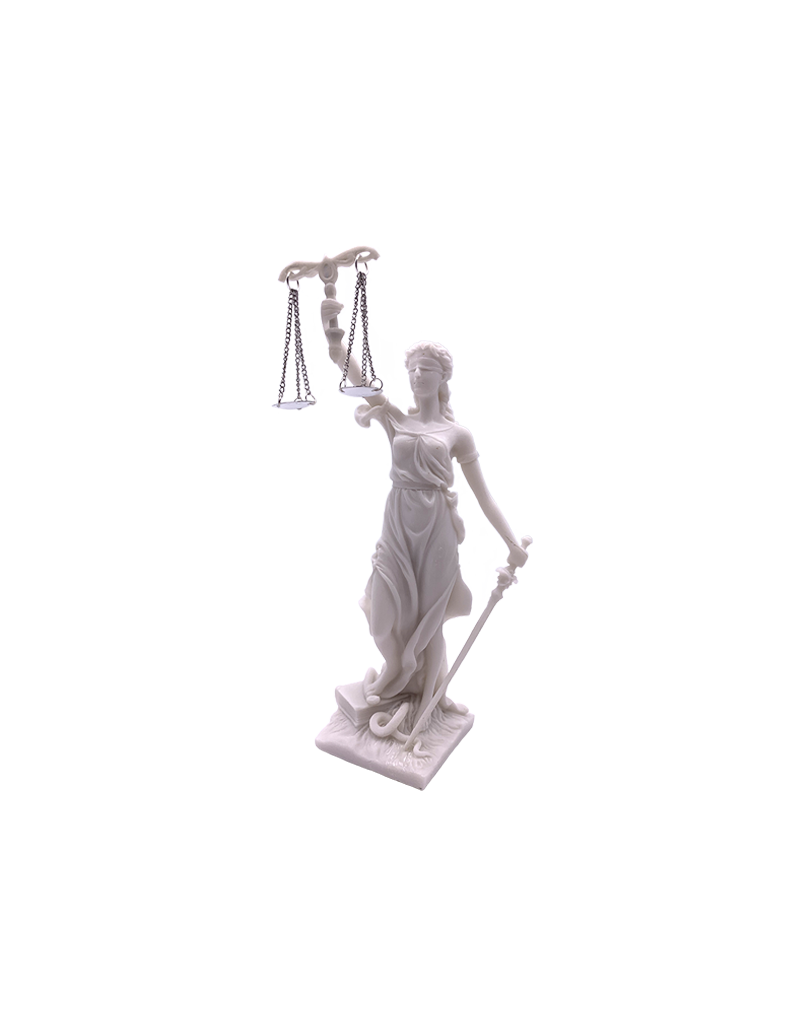 """Lady Justice Statue Marble Finish 8""""H"""