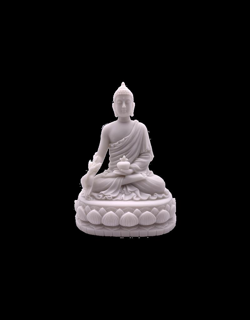 "Medicine Buddha Statue Marble Finish 6""H"