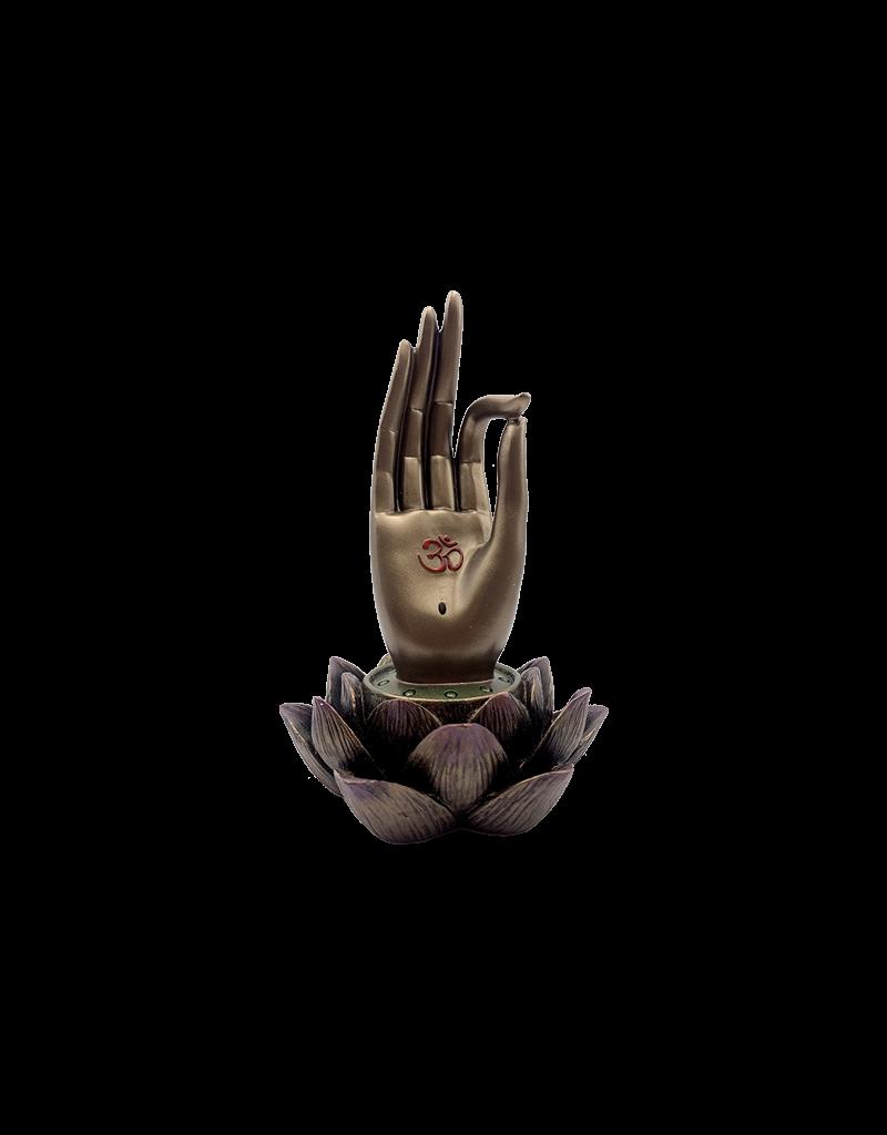 Buddha Hand on Lotus Incense Holder
