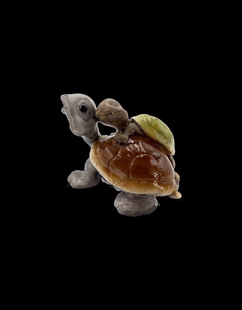 "Tortoise with Baby Figurine 2.25""H"
